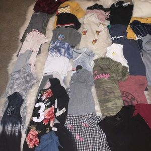 Lot of 32 shirts hoodies tanks tops Adidas NWT S